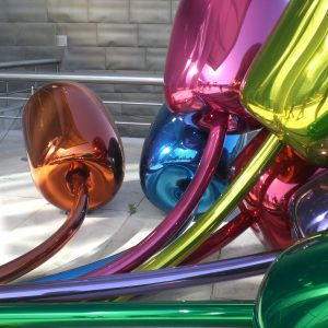"""Modern Sculpture """"Balloons"""" at the Guggenheim museum"""