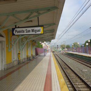Train station of the narrow gauge train FEVE