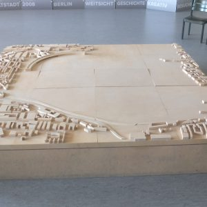Tactile model of the former airport Berlin Tempelhof