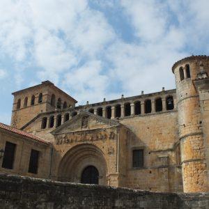 The romanic monastery of Santillana del Mar (Cantabria)