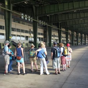 One of our English speaking group at the former airport of Berlin Tempelhof